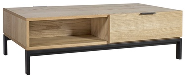 Kafijas galdiņš Home4you Emily Brown/Black, 1200x600x350 mm