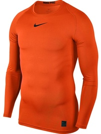 Nike Men's T-shirt Pro Top Compression LS 838077 819 Orange 2XL