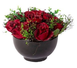 Home4you Red Velvet Rose Bouquet D25xH20cm