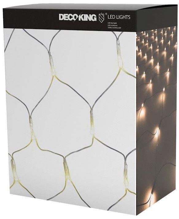Elektriskā virtene DecoKing LED Grid, silti balta, 1x2 m