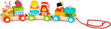 EcoToys Wooden Toy Train With Wooden Blocks