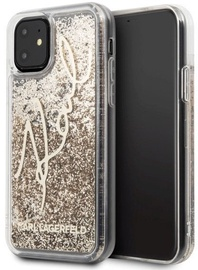 Karl Lagerfeld Glitter Signature Back Case For Apple iPhone 11 Gold