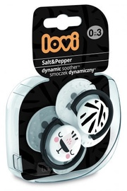Lovi Dynamic Soother Salt&Pepper 0-3m 2pcs 22/877