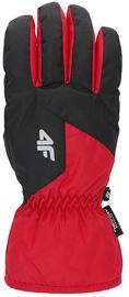 4F Mens Ski Gloves H4Z19 REM001 Red/Black Size L