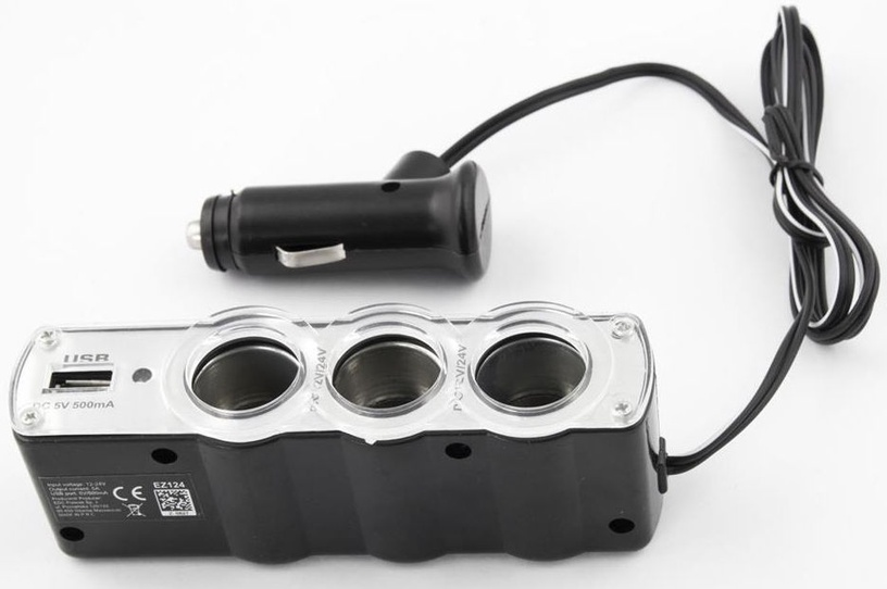 Esperanza Car Lighter Socket Splitter With USB Black