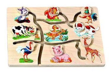SN Educational Wooden Toy Farm