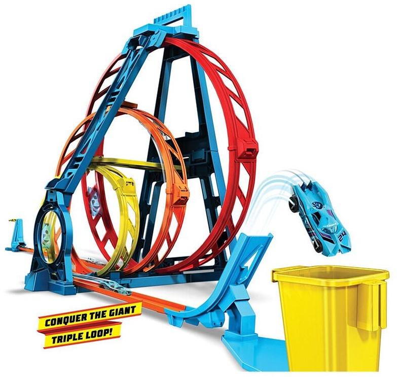 Автомобильная трасса Mattel Hot Wheels Track Builder Unlimited Triple Loop Kit