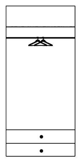 Skapis Szynaka Meble Selene 28, 100x58x216 cm