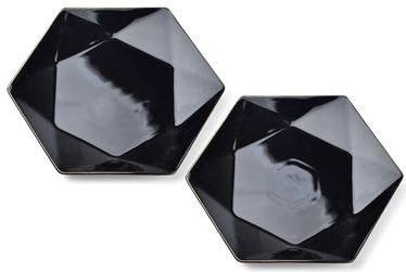 Mondex Ralph Dinner Plates Black 2pcs