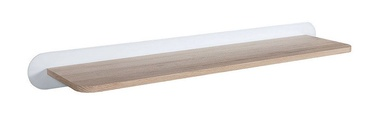 Black Red White Byron Wall Shelf 100cm San Remo Oak/White