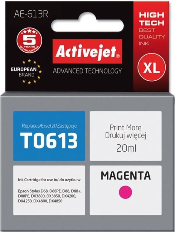 ActiveJet Cartridge AE-613R For Epson 18ml Magenta