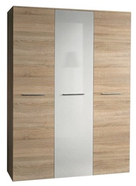 Skapis ASM Big Sonoma Oak/White Gloss Door, 135x55x190 cm