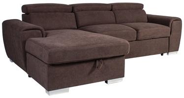 Stūra dīvāns Home4you Elba Brown, 260 x 163 x 82 cm