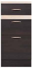 Нижний кухонный шкаф Black Red White Junona Line D3S/40/82 Wenge/Sonoma Oak, 400x470x850 мм