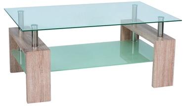 Kafijas galdiņš Signal Meble Modern Lisa II, caurspīdīga/ozola, 1100x600x550 mm