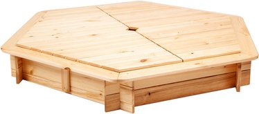 Folkland Timber Sandbox with Foldable Lid 1300x200x1300mm