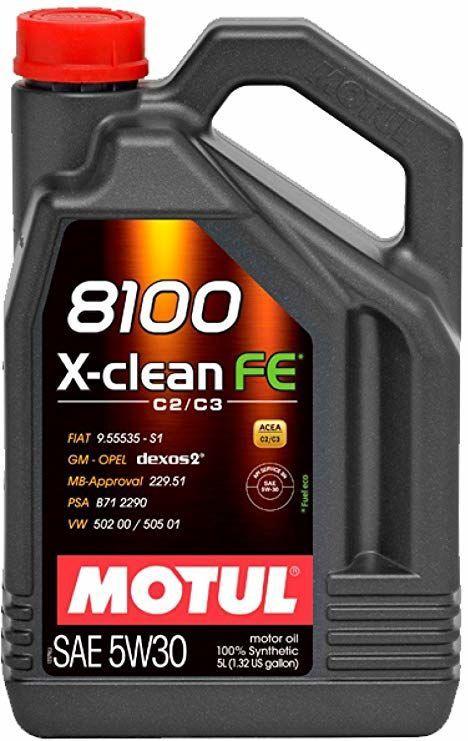 Motul 8100 X-Clean FE C2/C3 5W30 Motor Oil 5l