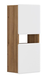 Black Red White Possi Light Cupboard 50x115cm Golden Larch/White Gloss