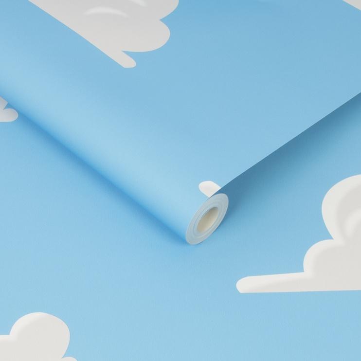 Graham & Brown Pop Wallpaper 108016 Blue/White