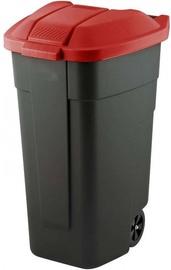 Curver Waste Bin 110L Black/Red
