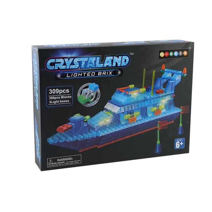 Crystaland Lighted Brix Boat 309pcs 99033