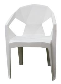 Dārza krēsls Besk Plastic White, 54x40x80 cm