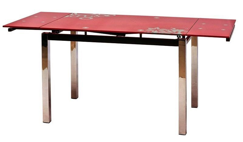 Pusdienu galds Signal Meble GD-017 Red, 1100 - 1700x740x750 mm