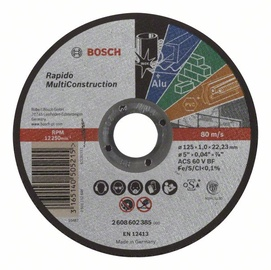 Bosch Universal Abrasive Cutting Disc 125x1mm
