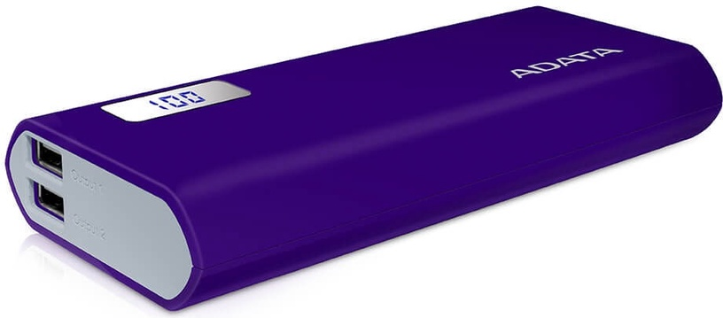 Ārējs akumulators ADATA P12500D Purple, 12500 mAh