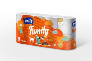 PAPĪRS WC GRITE FAMILY 3SL 8GAB