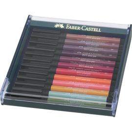 Фломастер Faber Castell Pitt Artist Pen Earth, односторонние, 12 шт.