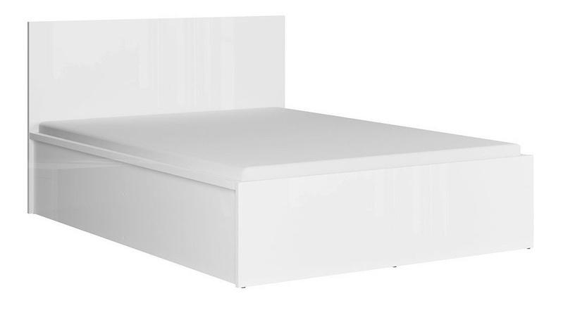 Кровать Black Red White Tetrix A Gloss White, 140 x 200 cm