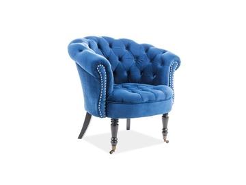 Atzveltnes krēsls Signal Meble Philips, zila, 87x78x83 cm