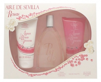 Instituto Español Aire De Sevilla Rosas 150ml EDT + 150ml Body Cream + 150ml Shower Gel