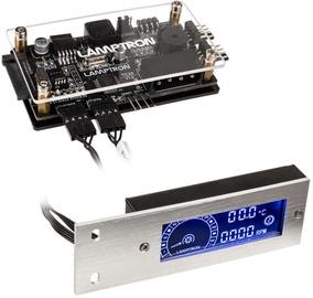 Lamptron TC20 Fan Speed Displayer&RGB LED Controller Silver (bojāts iepakojums)