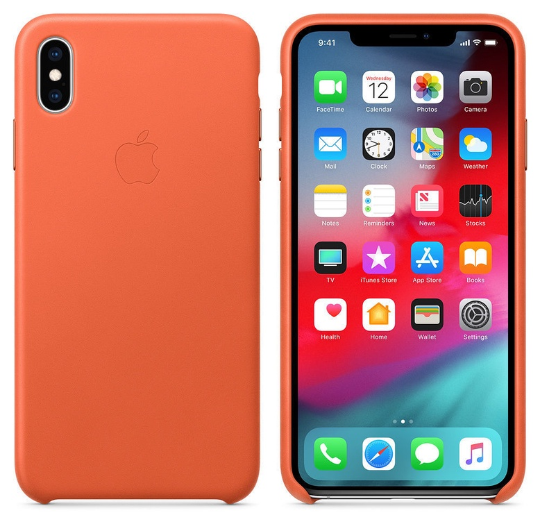 Apple Leather Back Case For Apple iPhone XS Max Sunset