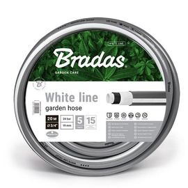 "Šļūtene Bradas White Line Garden Hose 3/4"" 20m Grey"