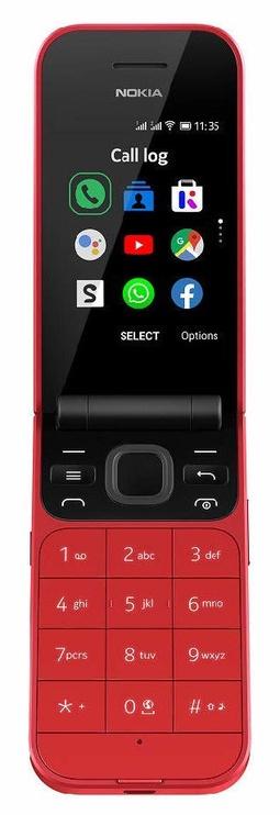 Mobilais telefons Nokia 2720 Flip, sarkana, 512MB/4GB