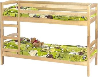 Divstāvīga gulta Halmar Sam Pine, 198x85 cm