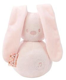 Mīkstā rotaļlieta Nattou Lapidou Music Rabbit 878784, rozā, 28 cm