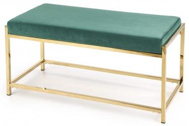 Pufs Halmar Mokka Dark Green/Gold, 97x44x46 cm