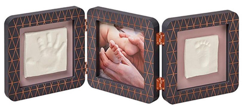 Komplekts roku / kāju zīmogu izveidei Baby Art Double Print Frame My baby Touch Copper Edition Dark