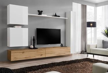 Dzīvojamās istabas mēbeļu komplekts ASM Switch VIII White/Wotan Oak