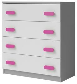 Idzczak Meble Smyk II 02 Chest Of Drawers 4S Grey/Pink