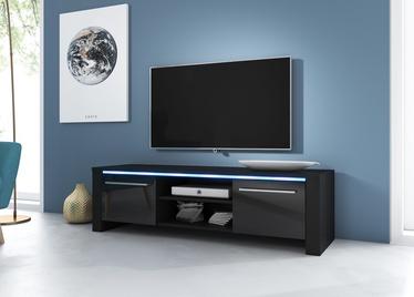 ТВ стол Vivaldi Meble Manhattan, черный, 1400x422x400 мм