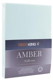 DecoKing Amber Bedsheet 160-180x200 Frozen Blue