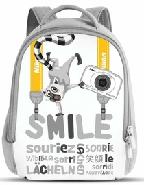 Nikon Smile Backpack For W100 Camera White/Gray