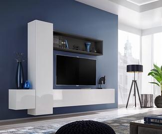 ASM Blox IX Living Room Wall Unit Set White/Black