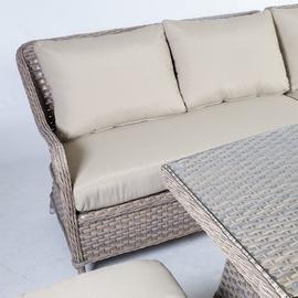 Āra mēbeļu komplekts Home4you Eden 19122, smilšu, 8 sēdvietas
