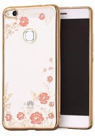 Hurtel Bloomy Stylish Flower Back Case For Huawei P9 Lite 2017 Gold